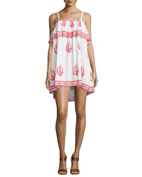 Desert Moon Sleeveless Mini Dress, Medallion Print
