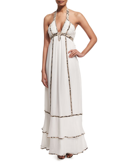 Diane von Furstenberg Sakara Paneled Silk Maxi Dress,