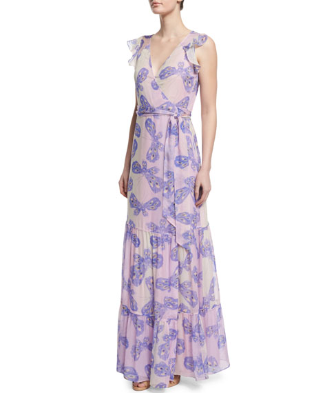 Diane von Furstenberg Stephanie Silk Butterfly Maxi Dress,