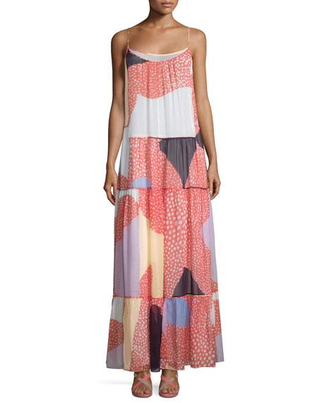 Diane von Furstenberg Baylee Silk Starfish Placement Maxi Dress