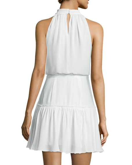 Carlita Halter-Neck Mini Dress