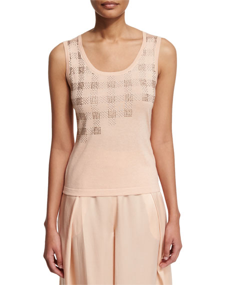 Magaschoni Embellished Sleeveless Tank