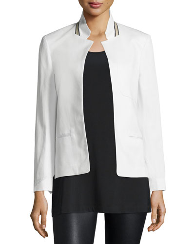 Volly Cotton-Blend Jacket, Blanc