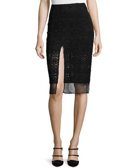 Alexis Janek Lace High-Neck Crop Top & Oli