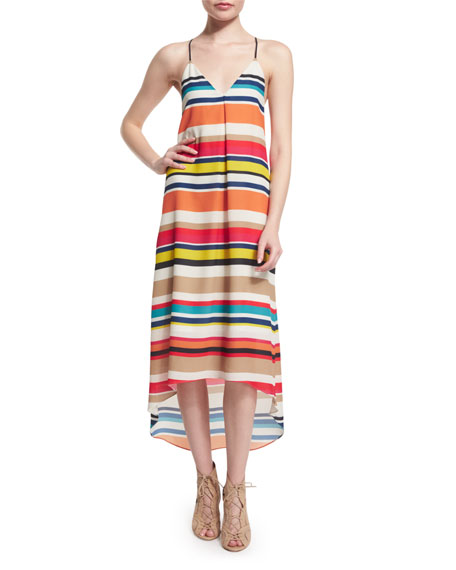 Alice + Olivia Cortes Striped Racerback Midi Dress, Multicolor