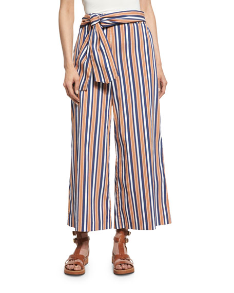Tanya Taylor Tilda Striped Pants, Terracotta
