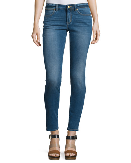 MICHAEL Michael Kors Izzy Low-Rise Skinny Jeans, Authentic