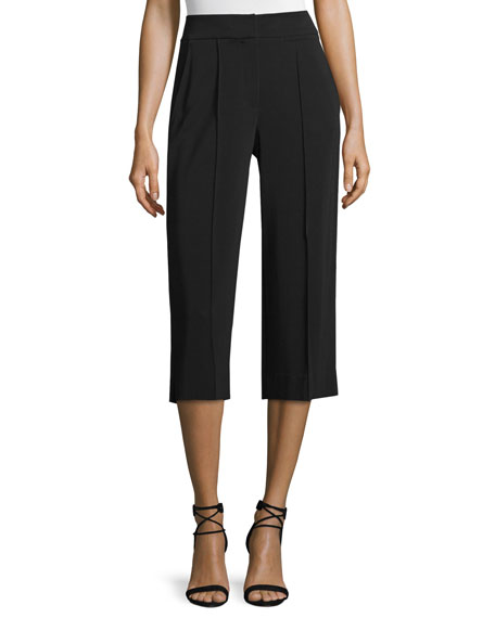 Cooke Slim-Fit Gaucho Pants, Black