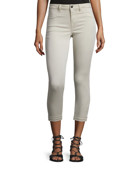 J Brand Jeans Anja Skinny Rolled-Cuff Ankle Jeans,