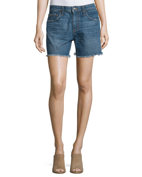 Joe's Jeans The Ex-Lover Raw-Hem Denim Shorts, Antonia