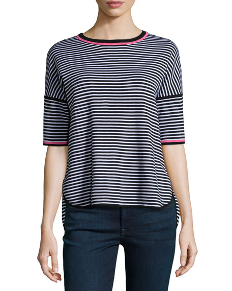 Reversible Striped Pullover Top