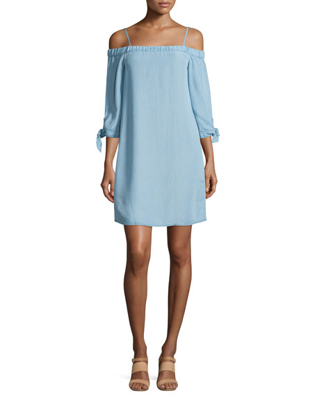 Ella Moss The Bare Shoulder Chambray Dress