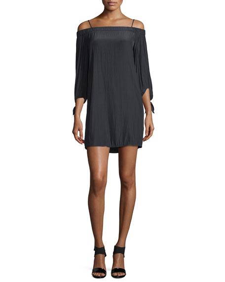 Ella Moss The Bare Shoulder Mini Dress, Black