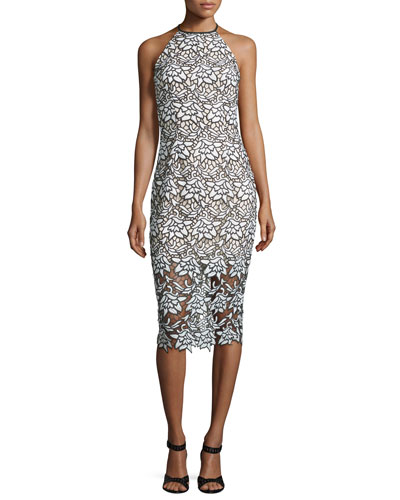 True Love Sleeveless Lace Midi Dress, Ivory