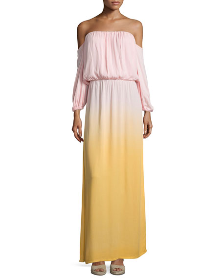 Young Fabulous and Broke Martha Off-The-Shoulder Maxi Dress,