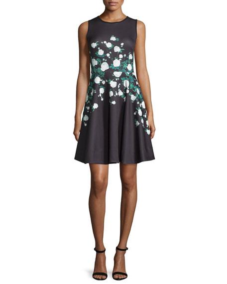 ERIN erin fetherston Suzie Floral-Print Dress, Black/Multi