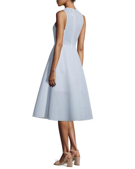Newbury Sleeveless Midi Dress, Blue Mist
