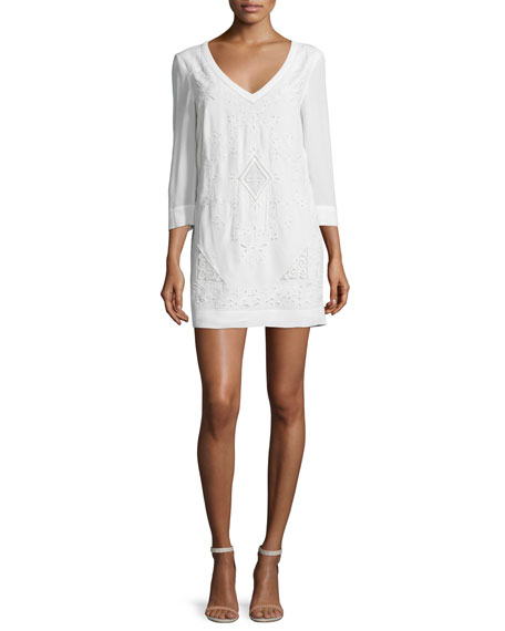French ConnectionCamber Sands 3/4-Sleeve Shift Dress, Summer