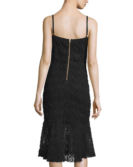 Havana Sleeveless Lace Dress, Black