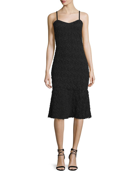 French Connection Havana Sleeveless Lace Dress, Black