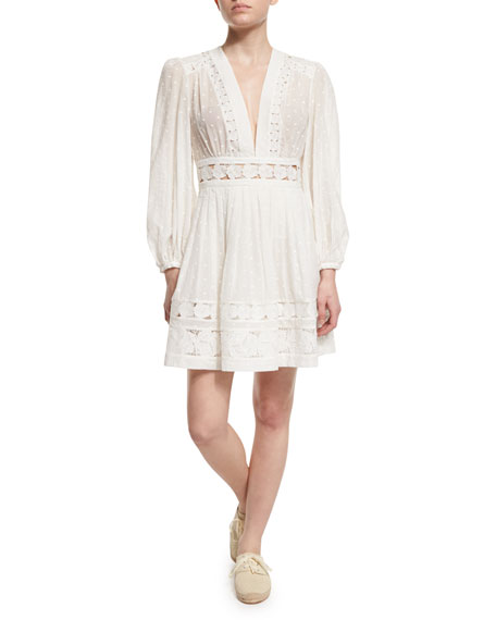 Zimmermann Realm Embroidered-Panel Dress