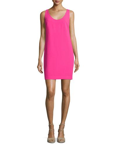 Sleeveless Crossover-Back Sheath Dress