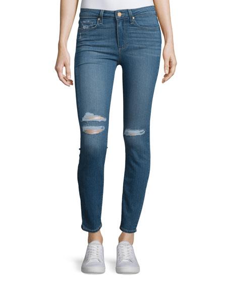 Paige Denim Hoxton Distressed Ankle Jeans, Jayla Destructed