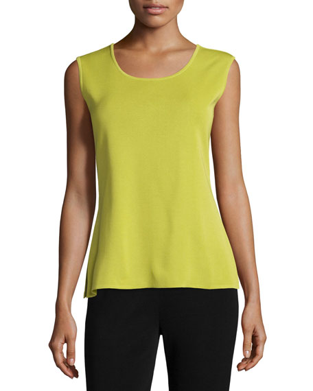 Misook Plus Size Scoop-Neck Tank, Sour Apple