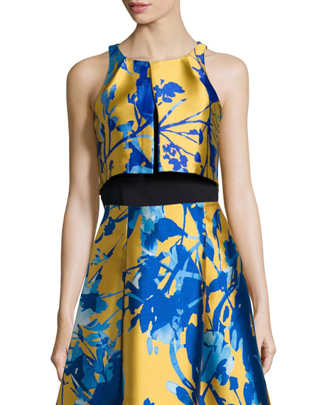 Sachin & Babi Noir Sleeveless Printed Crop Top,