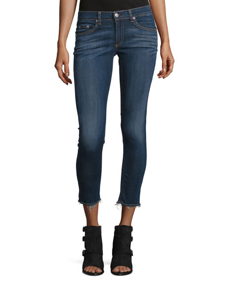 rag & bone/JEAN Faded Stretch Denim Capris, Orson