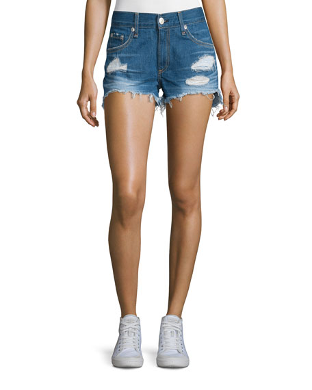 rag & bone/JEAN Distressed Cut-Off Denim Shorts, Freeport