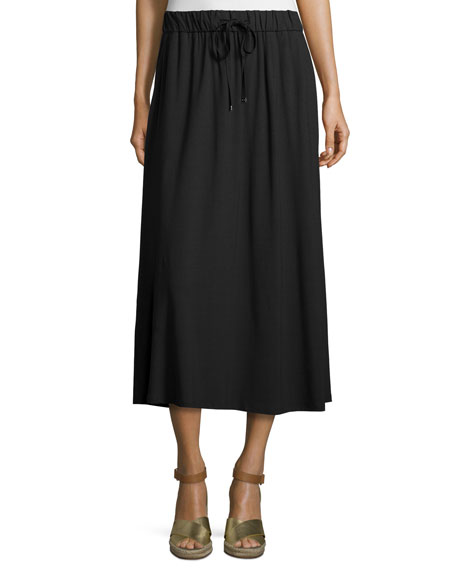 eileen fisher drawstring a line jersey skirt