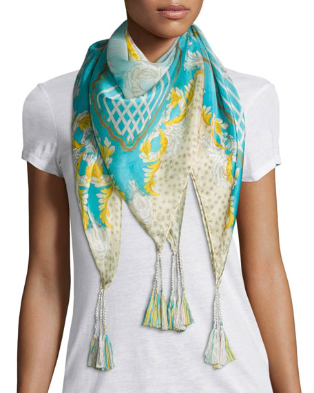 Johnny Was Echo Printed Silk Scarf