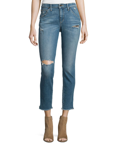 The Wasteland Distressed Ankle Jeans, Reilly