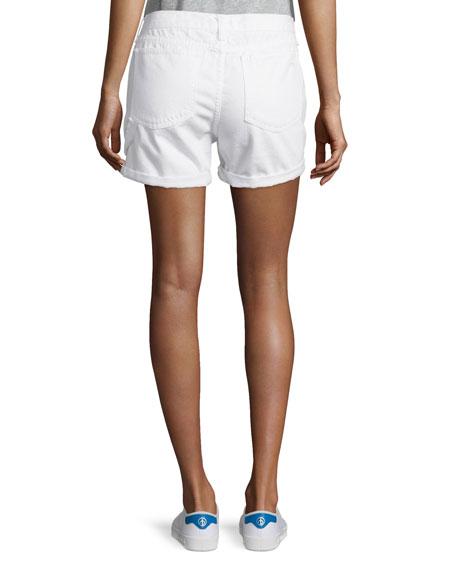 Carpenter Cuffed Shorts, Aged Bright White