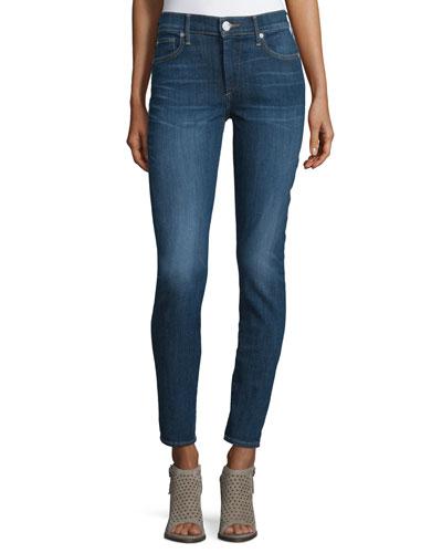 Halle Mid-Rise Super Skinny Jeans, Worn Vintage