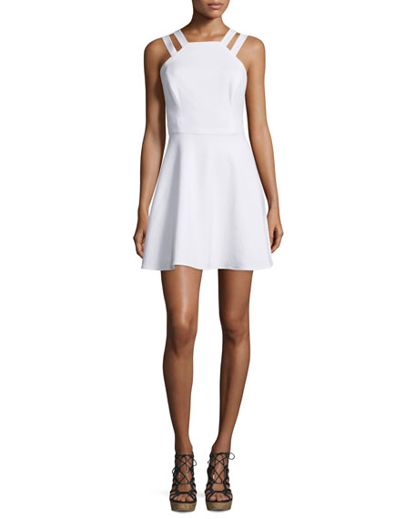 French Connection Whisper Light Sleeveless Dress, White