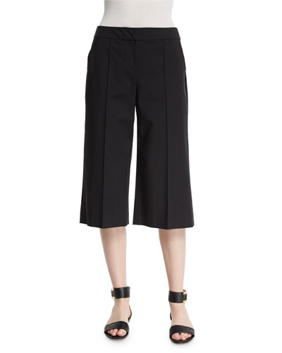 Kenmare Cropped Crepe Culottes, Women's
