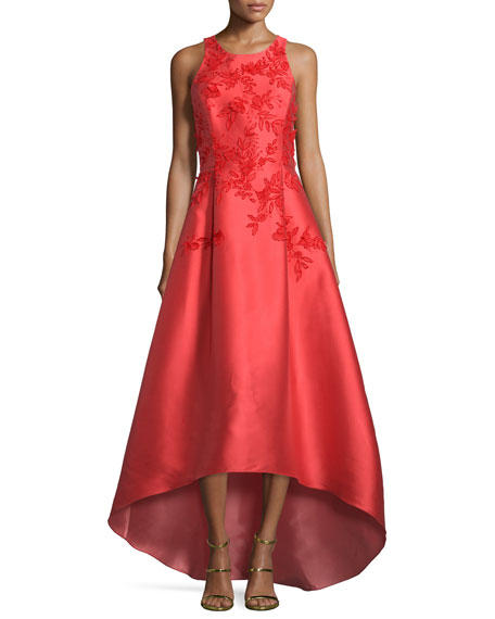 Sachin & Babi Sleeveless Embroidered High-Low Gown