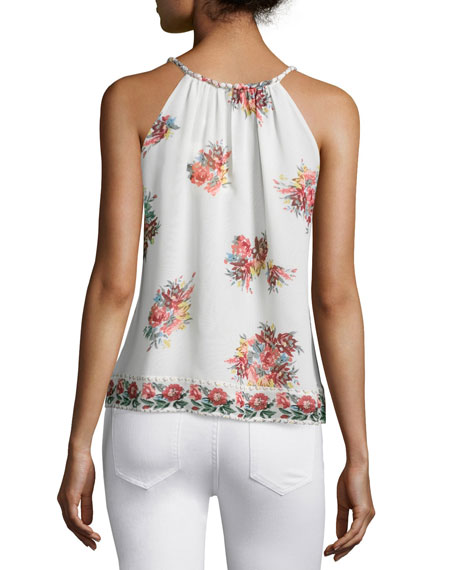 Gris Floral-Printed Sleeveless Top