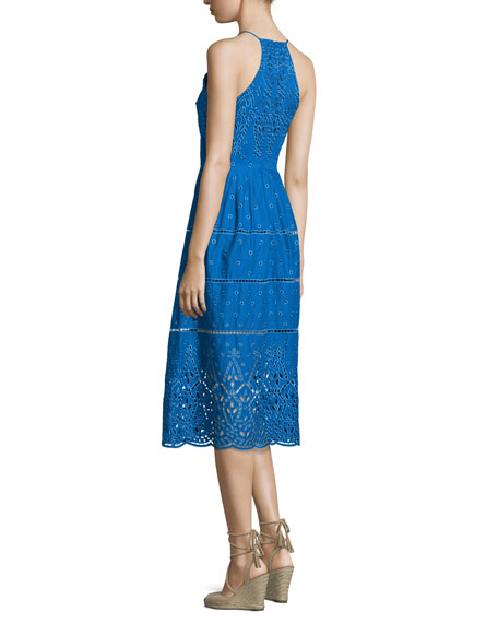 Alana Embroidered Eyelet Dress, Glacius
