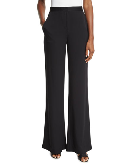 Diane von Furstenberg Katara Wide-Leg Stretch Silk Pants,