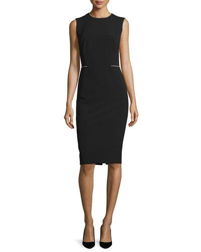 Marilyn Sleeveless Sheath Dress, Black