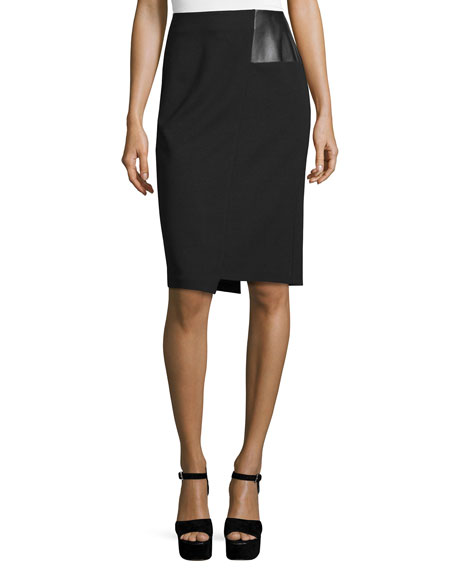 CoSTUME NATIONAL High-Waist Pencil Skirt, Black