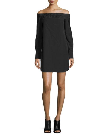 Rag & Bone Kacy Off-the-Shoulder Poplin Mini Dress,