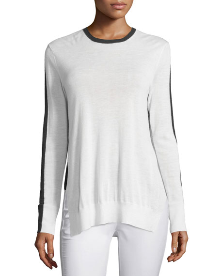Rag & Bone Verity Two-Tone Cashmere Pullover Sweater,