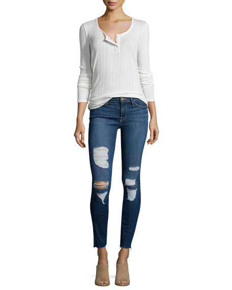 Image 3 of 3: Le Skinny Distressed Jeans, Park Jefferson