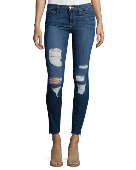 Image 1 of 3: Le Skinny Distressed Jeans, Park Jefferson