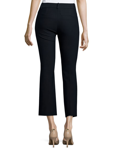 Cropped Flare Trousers, Midnight