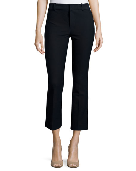 Derek Lam 10 Crosby Cropped Flare Trousers, Midnight